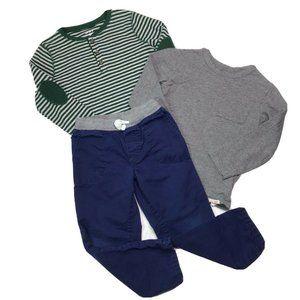 Carters Baby Gap Boys 4T/4 Tee Pant Lot 3 Pieces